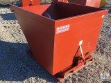 Unused Standard Duty 2 Cubic YARD Self Dumping Hopper (4,000lb. Capacity) [Yard 1: Odessa]