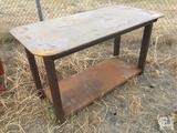 Unused Heavy Duty 30in X 57in Welding Shop Table with Shelf