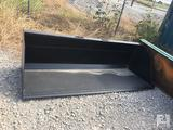 Unused 90in Bucket for Skid Steer, for Snow/Mulch
