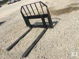 Unused 48in Tomahawk Pallet Fork Skid Steer Attachment