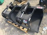 Unused Stout Grapple Bucket HD72-FB c/w skid steer quick attach