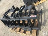 Unused Stout Brush Grapple 66-9 c/w skid steer quick attach