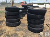 (10) Various Size Tractor Trailer Tires & Wheels