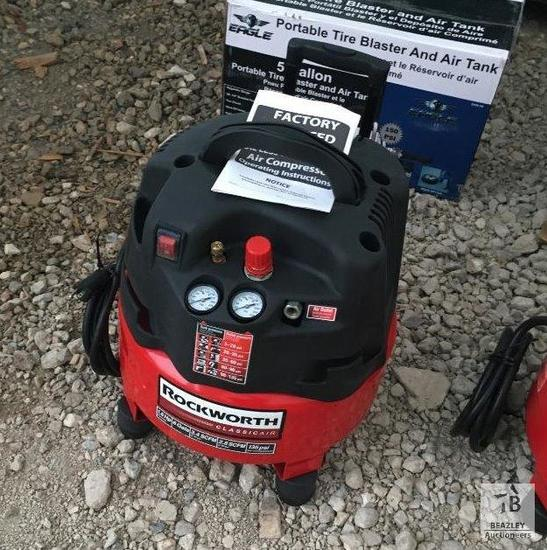 Unused Rockworth 150psi Pancake Air Compressor