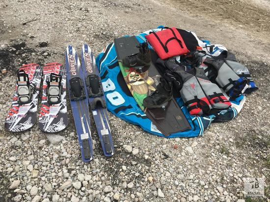 Lot Of Ski Equipment and Boat Accessories