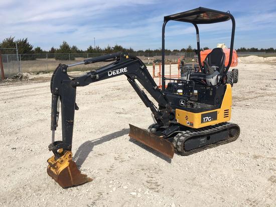 2016 John Deere 17G Mini Excavator