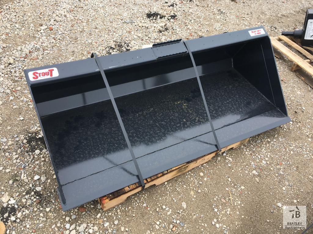 Unused Stout 72 in Skid Steer Bucket