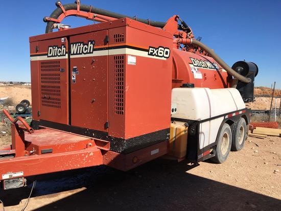 2012 Ditch Witch FX60 1200 Gal Vacuum Hydro Excavator