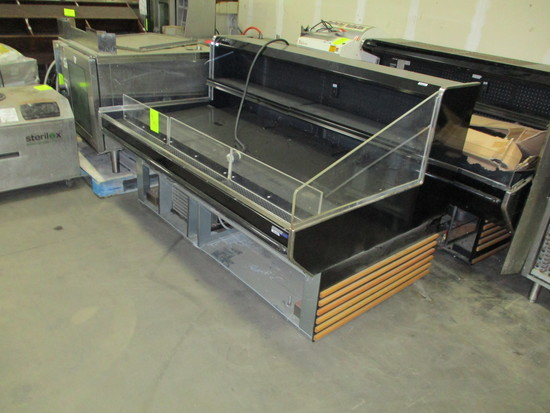 Hill Phoenix Self contained cooler case on Casters