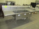 Load King 3 Hole Deep Sink W/ Drain Boards