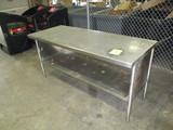 Stainless Steel Table w/ bottom shelf