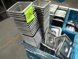 1 Box of SS Pans / Lids & Some Plastic lids