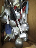 1 Box of Spoons & Misc