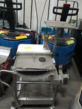 SS Meat Slicer Stand on Dolly Casters