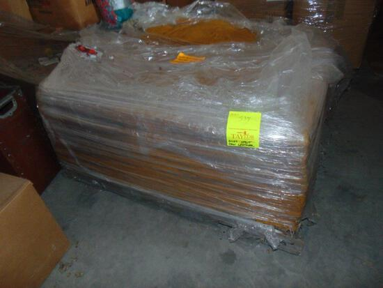 Pallet Of Rust Split Cow Leather