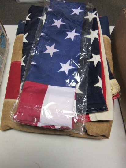 Lot of 3 American Flags