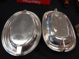 Lot of 2 Silver Plate Serving Trays