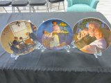 Lot of 3 Norman Rockwell Collector Plates