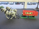 Die cast Country Store sleigh with plastic horses