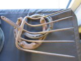 Antique Iron Pitch Fork & Horse Shoes
