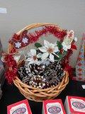 Christmas Pine Cone Basket