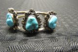Sterling & turquoise Navajo cuff bracelet