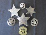 Lot of 7 Assorted Vintage Souvenir Sheriff Badges