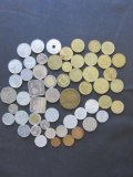 Lot of 55 Assorted World Coins