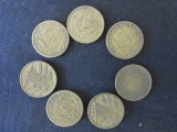 Lot of 7 Dutch Coins - 1924-1936