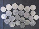 Lot of 21 Italian Coins - 1953-1967