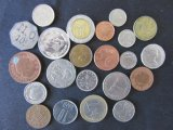 Lot of 22 Assorted Foreign Coins - 1950-2008