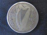 1928 Ireland 1/2 Crown .75 Silver