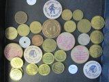 Lot of Assorted Tokens & Wooden Nickels