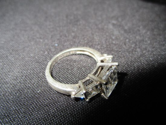 Sterling Ring with CZ Size 5