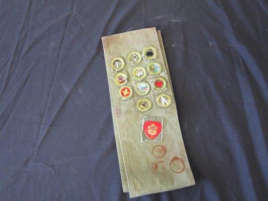 Vintage BSA Sash w/ Merit Badges