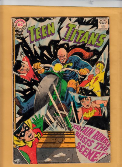 TEEN TITANS #15 1968 DC Comics SILVER AGE