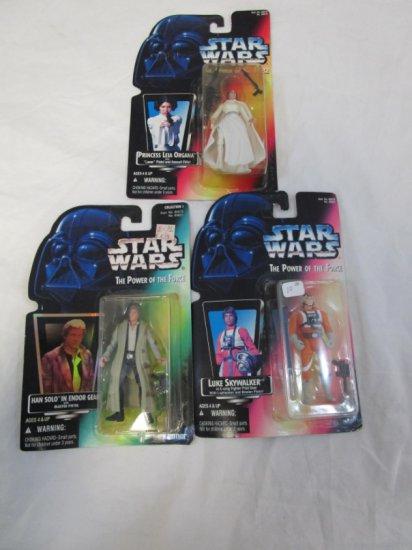 3 Late 90's Star Wars Action Figures Princess Leia