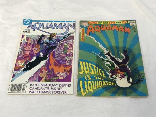 Lot of 2 AQUAMAN Comics 1968 and 1988