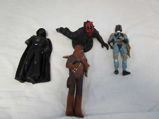 Lot of 4 Star Wars Action Figures Chewbacca