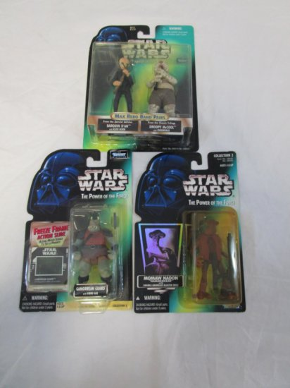 3 Late 90's Star Wars Action Figures