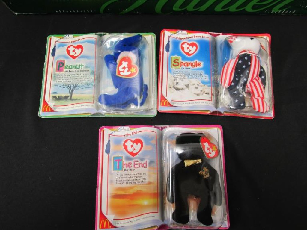 Lot of 3 Late 90's Beanie Babies
