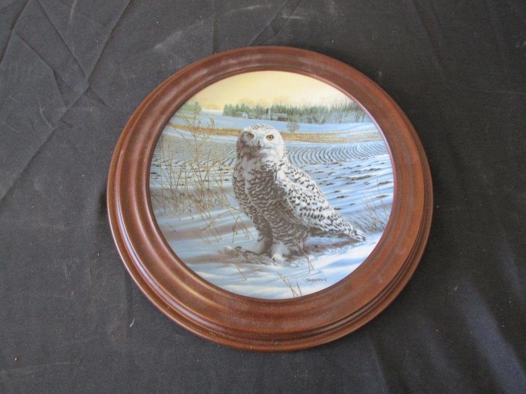 Knowles The Snowy Owl J. Beaudoin Collectors Plate