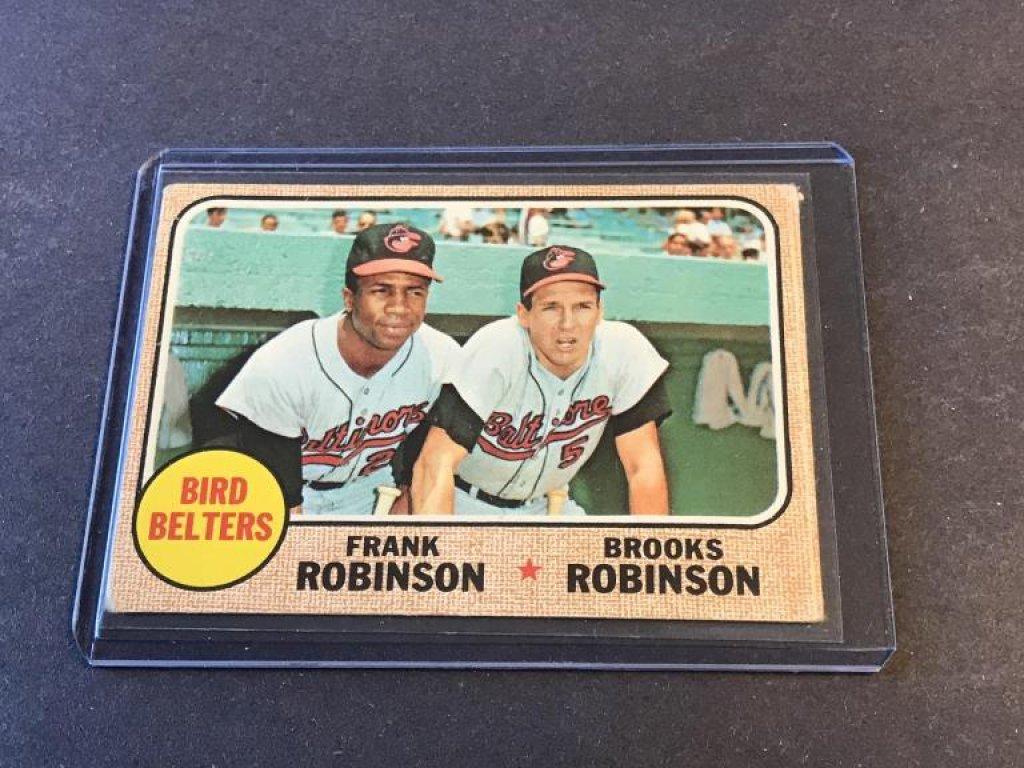 1968 Topps #530 Bird Belters Frank Robinson Card