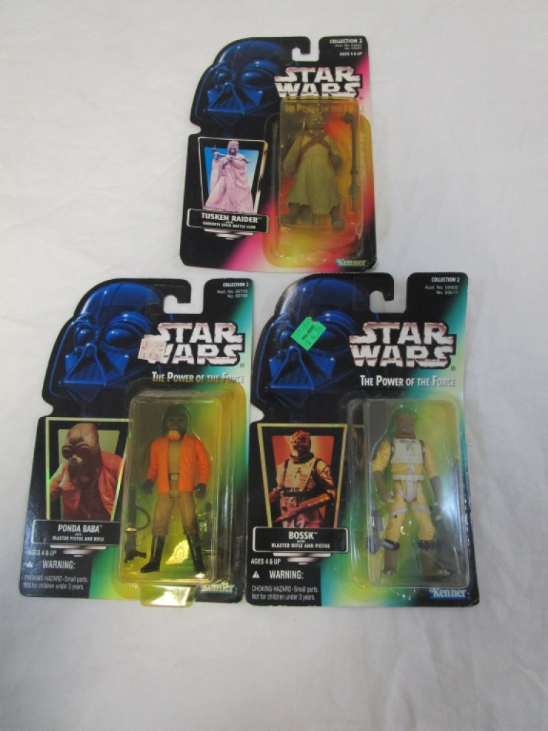 3, Late 90's Star Wars Action Figures Bossk
