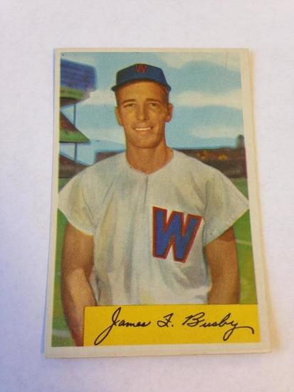Jim Busby Senators 1954 Bowman Baseball Card 8 Art Antiques