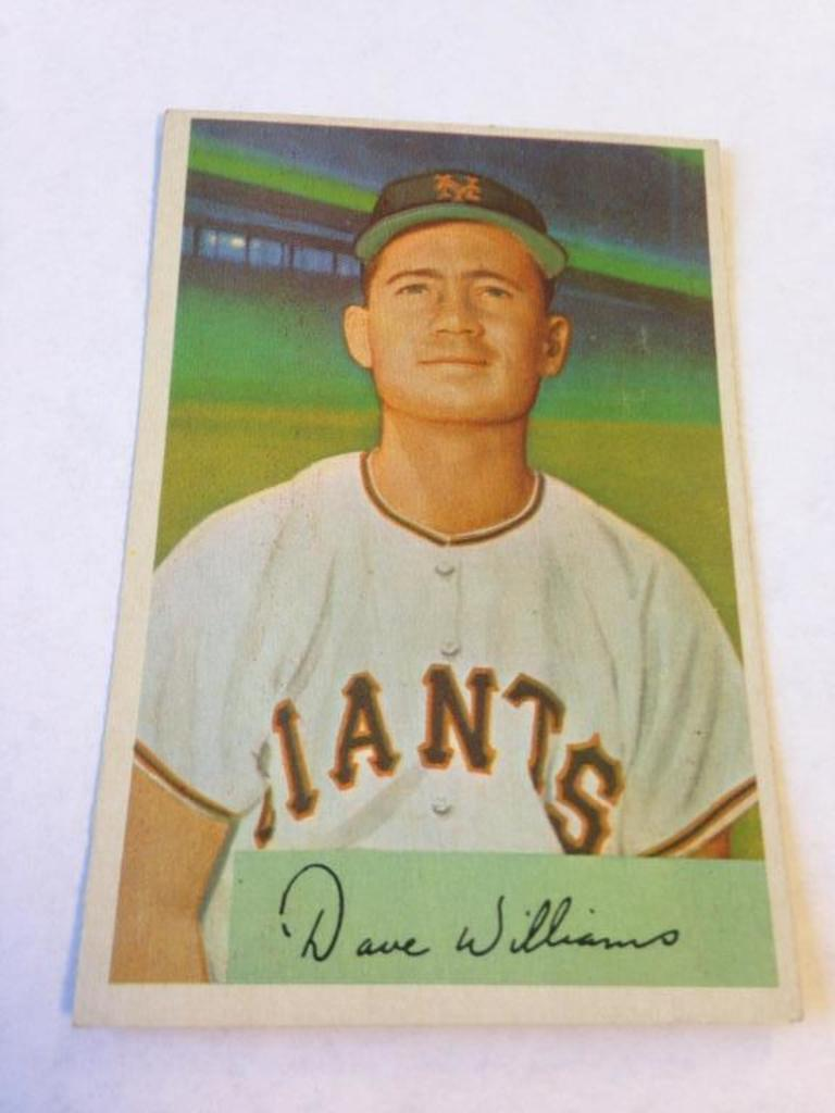 Lot Davey Williams Giants 1954 Bowman Baseball Card 9 Proxibid