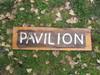 Rustic Pavilion Wood Sign