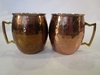 Pair of Moscow Mule Hammered Brass/ Copper Mugs