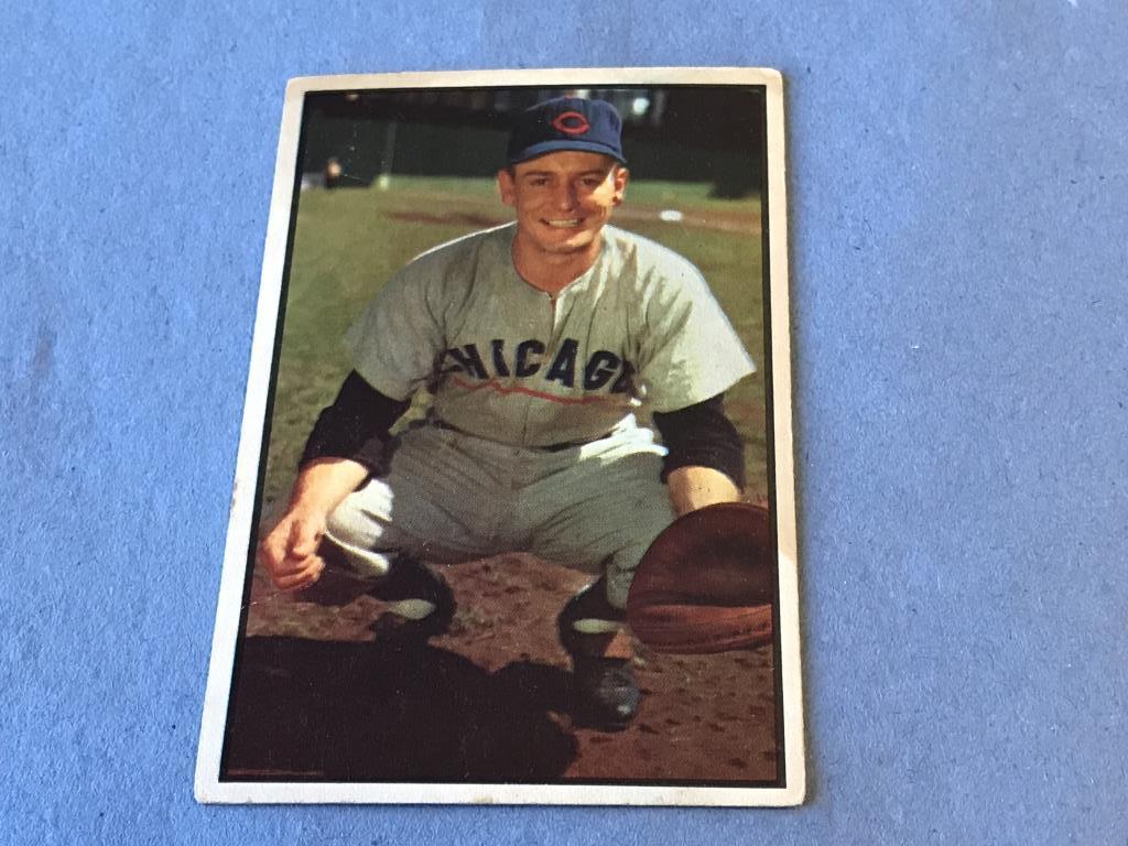 Lot Toby Atwell 112 Cubs 1953 Bowman Baseball Card Proxibid