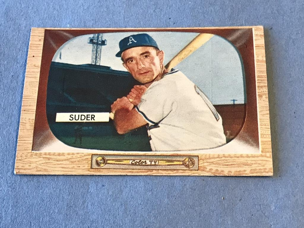 Lot Pete Suder 6 Athletics 1955 Bowman Baseball Card Proxibid